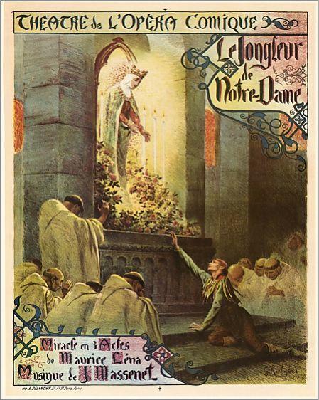 MASSENET: JONGLEUR, 1904. French poster, 1904, for Jules Massenet's opera 'Le Jongleur